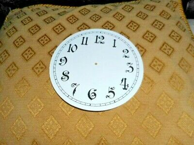 Round Paper (Card) Clock Dial - 125mm MINUTE TRACK - Arabic - GLOSS WHITE -Parts