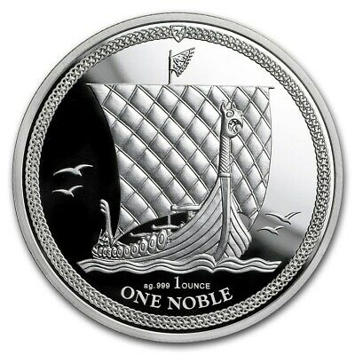 2018 - Isle of Man 1oz (.999) Silver Noble Coin