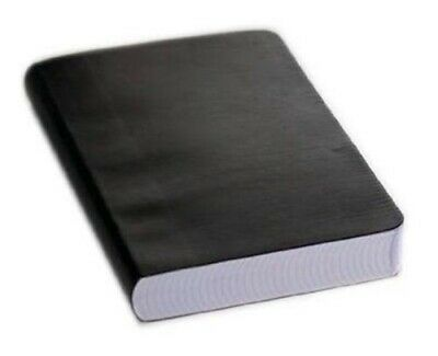 Miquelrius Leather Look Soft Bound Notebook 6x8, Black College Rule, 300 Sheets