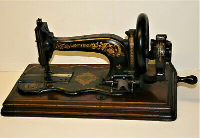 Antique Longford Family Fiddle Base Hand Crank Sewing Machine My5
