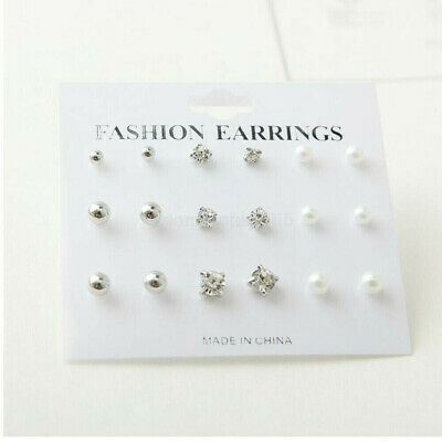 A Set Of 9/12 Pairs Earrings Different Style Ear Studs Allergy Free Wholesale