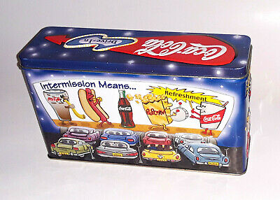 Coca-Cola Collectible Tin Drive In Movie Embossed Collectible Tin VGUC 5 x 8.5