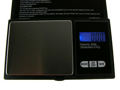 Digital Scale Electronic LCD Display Pocket Balance Weighing Scales 200g*0.01g