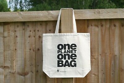 BRANDED ECOBAG Recycled Cotton Canvas Tote//Shopping Bag With long Handles
