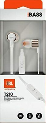 JBL T290 Sound Pure Bass In Ear Earphones/Headphones with Mic Rose Gold