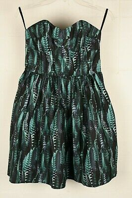 RRP £89 Jack Wills Bleakley Strapless Dress Size 8 10 Red Blue NEW tags Ref Z