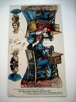 "Victorian Trade Card Paper Dolls for ""The New Home Sewing Machine Co."" *"