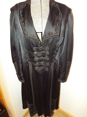 Atq Victorian Edwardian Widows Weeds Mourning Jacket Cape Frog Closure VERY OLD!
