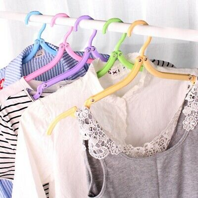 20 Pieces of Folding Folding Hangers Portable Hangers Outdoor Travel Multi- P2H6
