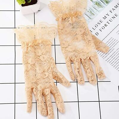 Dressy Gloves Mittens Lace Wedding Party Full Finger Women Sunscreen Sexy Gloves