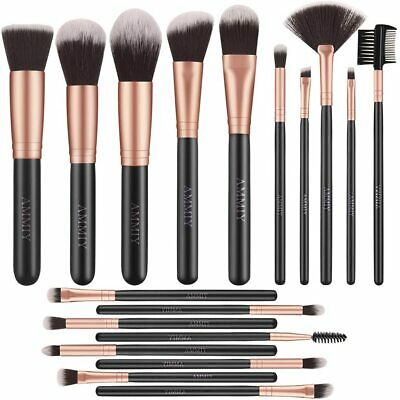 Set de brochas, set de pinceles maquillaje profesional 18 piezas set Rose Golden
