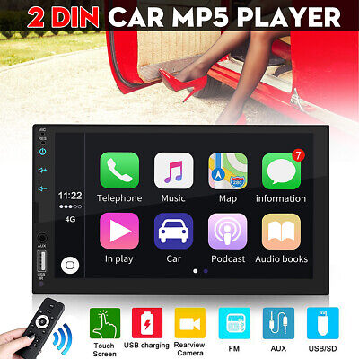 7'' 2Din Car Radio Stereo MP5 Player bluetooth AUX GPS Touch Screen IOS Androiod