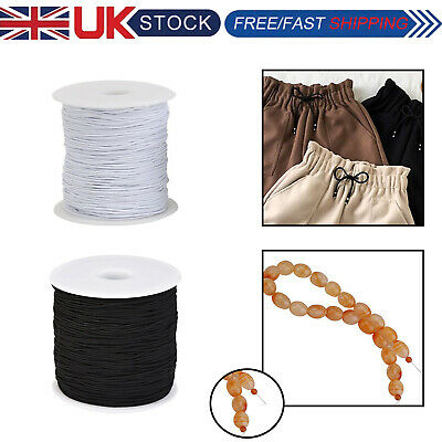 1Mm Round Elastic Cord Bungee Rope Stretchable Shock String Dressmaking Craft