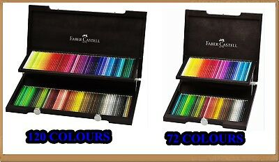 Coloured pencils POLYCHROMOS 72 or 120 colors Faber-Castell wooden box