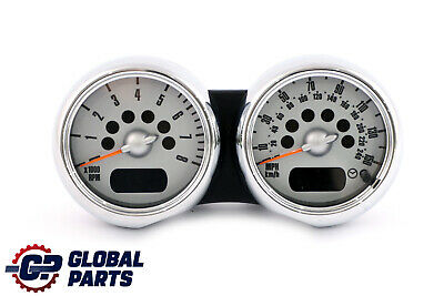 *BMW Mini Cooper One R50 R52 R53 Twin Clock Counter Speedometer Chrome 6936318