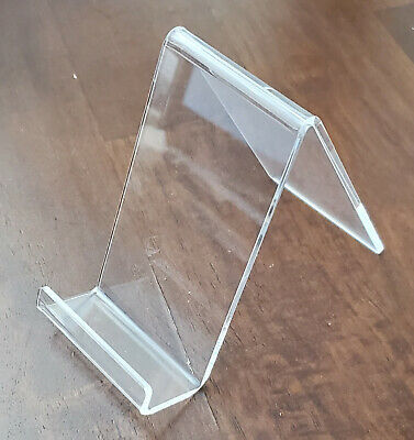4 Pc 4''H Clear Acrylic Marketing Literature Easel Flyer Prospect Holder Stand