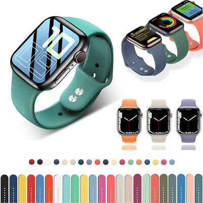 38/40mm 42/44mm Silicone Sports iWatch Band Strap for Apple Watch Series 5 4 3 2