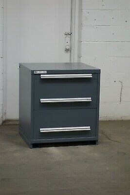 Used Stanley Vidmar 3 drawer cabinet 33 high industrial tool storage #2141