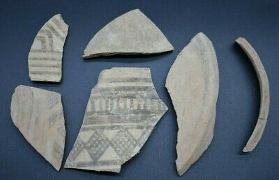 Mixed lot of ancient Indus Valley pottery fragments C. 2nd - 1st millennium BC