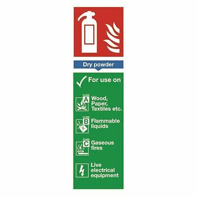 Safety Sign Fire Extinguisher Dry Powder 280x90mm Self-Adhesive [SR71134]