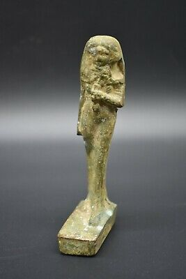 Ancient Egyptian Ptolemaic period bronze Goddess Isis figurine from house shrine