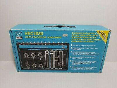 VideoTech VEC1030 Video Editing Processor and Combined Three Channel Audio Mixer