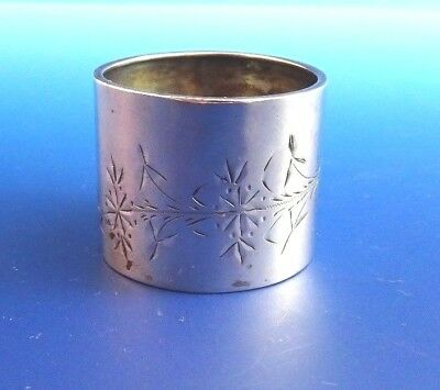 Sterling Silver Antique Napkin Ring by Gorham with Bright Cut Design (2876)