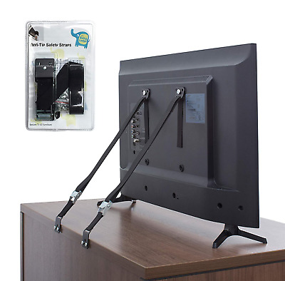 The Baby Lodge TV and Furniture Anti Tip Straps - Safety Furniture Wall Anchors