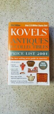 Kovels'   ANTIQUES & COLLECTIBLES PRICE LIST 2001, Paperback) 0609805711