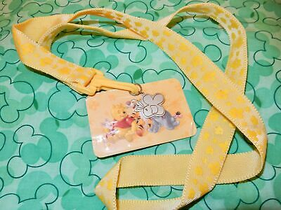 Disney Winnie The Pooh Lanyard With Card And Charm