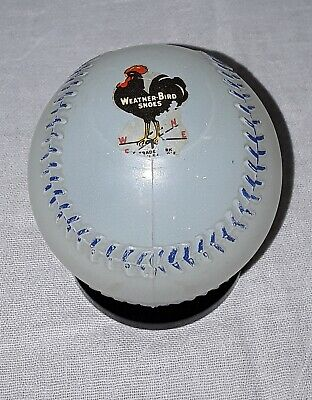 Vintage Weather Bird Shoes Glass Baseball Advertising Bank