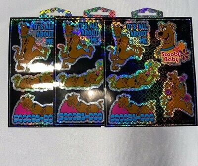 """Sandylion Scooby-doo Stickers lot of 3 SHEETS 7"""" X 6 """""""