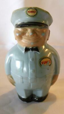 1950s Fat Man Humble Gas Station Service Attendant Plastic Bank - FREE SHIPPING