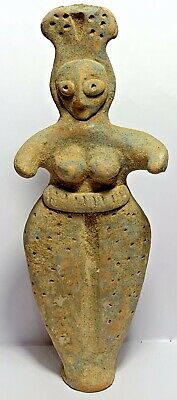 ANCIENT SYRO HITTITE TERRACOTTA FERTILIT FEMALE IDOL FIGURINE 1200-800BC 150.1m