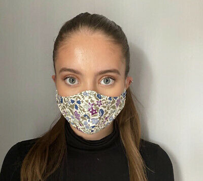 UK Face Mask Breathable Washable Protective Covering Nose Mouth Adult