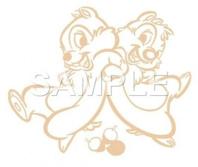 Disney Chip & Dale VINYL  iron on transfer