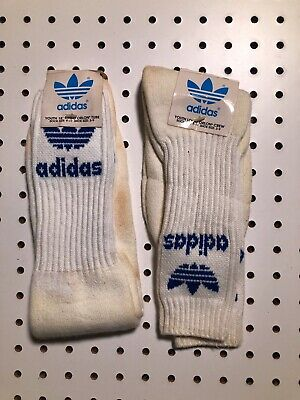 Vintage Adidas Trefoil Striped Tube Socks Vtg Adidas Socks 80s USA Sz Youth 9-11