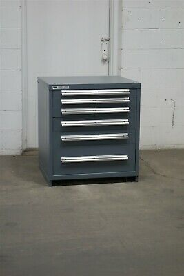 Used Stanley Vidmar 6 drawer cabinet 33 high industrial tool storage #2142