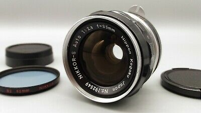 * Exc++++ * Nikon Nikkor-S Auto 35mm F2.8 Non-Ai Wide Angle Lens from Japan
