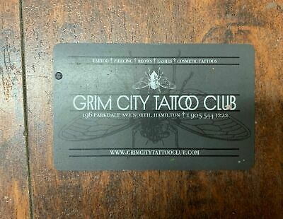Grim City Tattoo Club Gift Card - Mail Delivery