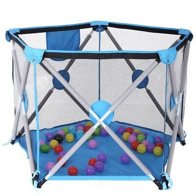Children's Portable Collapsible Travel Crib Tent Ball Pool Game House Playground