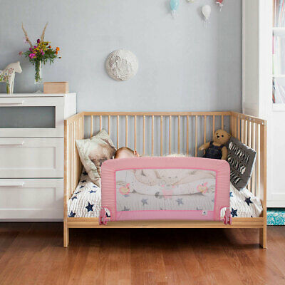 "Swing Down Crib Bed Rail Baby Toddler Safety Guard Bunk Universal 21.5""H"