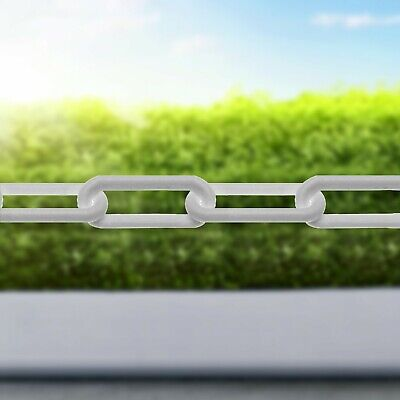 Plastic Barrier Chain Link Safety Decorative Garden Fence White Black Red/White