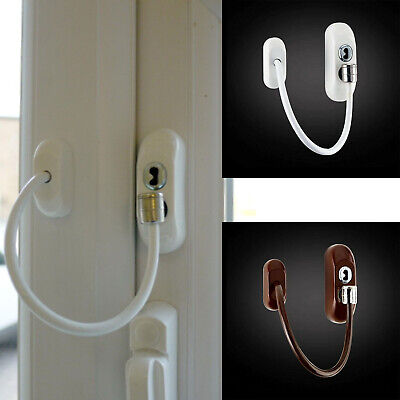 2x Window Restrictor upvc Cable Child Safety Locks Door Opening Stopper Security