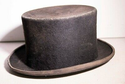 GOOD QUALITY LATE VICTORIAN or  EARLY EDWARDIAN TOP HAT