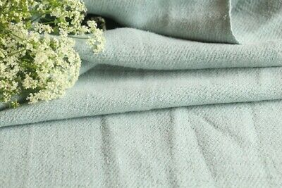 T 585 antique dyed linen roll mint green washed