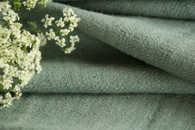 T 586 antique dyed linen roll mint green washed