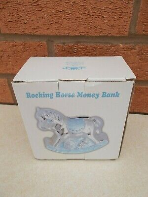 THE LEONARDO COLLECTION - rocking horse money box - BLUE