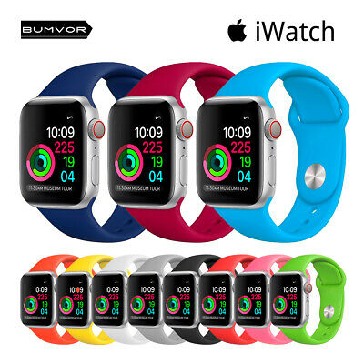Pack Correas Apple Watch Series 1/2/3/4/5 BUMVOR pulsera silicona iWatch