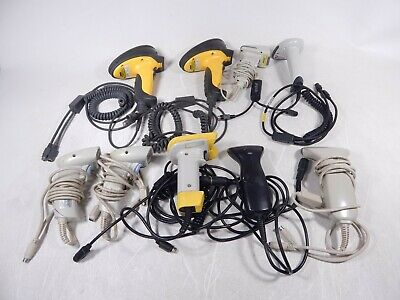Lot of 9x Mixed Brand Symbol Honeywell Percon Wasp PS2 Handheld Barcode Scanners